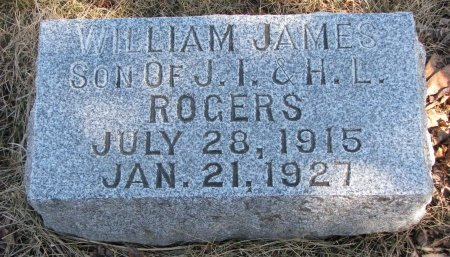 ROGERS, WILLIAM JAMES - Burt County, Nebraska | WILLIAM JAMES ROGERS - Nebraska Gravestone Photos