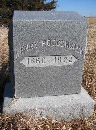 ROGGENSACK, HENRY - Burt County, Nebraska | HENRY ROGGENSACK - Nebraska Gravestone Photos