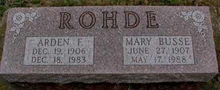 BUSSE ROHDE, MARY - Burt County, Nebraska | MARY BUSSE ROHDE - Nebraska Gravestone Photos