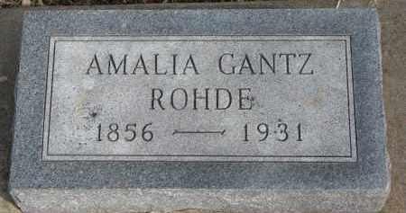 ROHDE, AMALIA - Burt County, Nebraska | AMALIA ROHDE - Nebraska Gravestone Photos