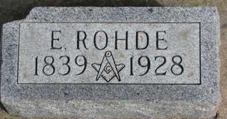 ROHDE, E. - Burt County, Nebraska | E. ROHDE - Nebraska Gravestone Photos