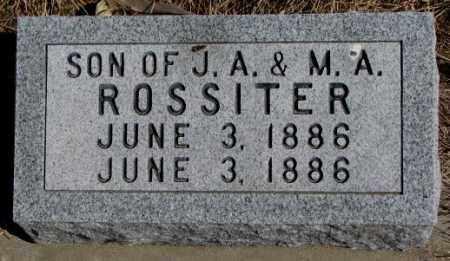 ROSSITER, SON - Burt County, Nebraska | SON ROSSITER - Nebraska Gravestone Photos