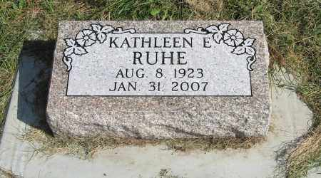 RUHE, KATHLEEN E. - Burt County, Nebraska | KATHLEEN E. RUHE - Nebraska Gravestone Photos