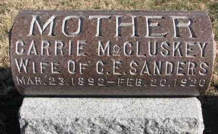 MCCLUSKEY SANDERS, CARRIE - Burt County, Nebraska   CARRIE MCCLUSKEY SANDERS - Nebraska Gravestone Photos