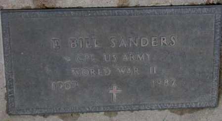 SANDERS, E. BILL (WW II) - Burt County, Nebraska | E. BILL (WW II) SANDERS - Nebraska Gravestone Photos