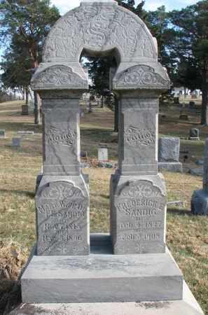 SANDIG, MARY - Burt County, Nebraska | MARY SANDIG - Nebraska Gravestone Photos