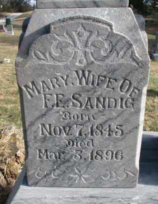 SANDIG, MARY (CLOSEUP) - Burt County, Nebraska | MARY (CLOSEUP) SANDIG - Nebraska Gravestone Photos