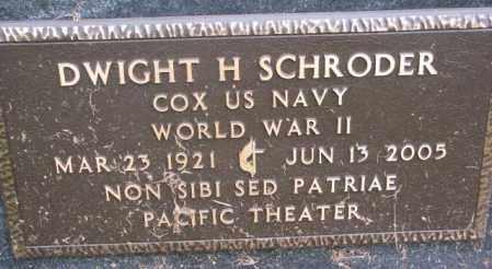 SCHRODER, DWIGHT H. (WW II) - Burt County, Nebraska | DWIGHT H. (WW II) SCHRODER - Nebraska Gravestone Photos