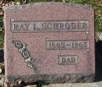 SCHRODER, RAY L. - Burt County, Nebraska | RAY L. SCHRODER - Nebraska Gravestone Photos