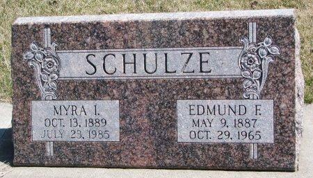 CATES SCHULZE, MYRA I. - Burt County, Nebraska | MYRA I. CATES SCHULZE - Nebraska Gravestone Photos