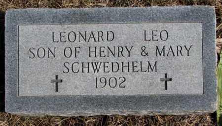 SCHWEDHELM, LEONARD LEO - Burt County, Nebraska   LEONARD LEO SCHWEDHELM - Nebraska Gravestone Photos