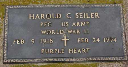 SEILER, HAROLD C. (WW II) - Burt County, Nebraska | HAROLD C. (WW II) SEILER - Nebraska Gravestone Photos