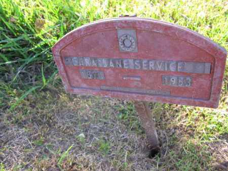 SERVICE, SARAH JANE - Burt County, Nebraska | SARAH JANE SERVICE - Nebraska Gravestone Photos