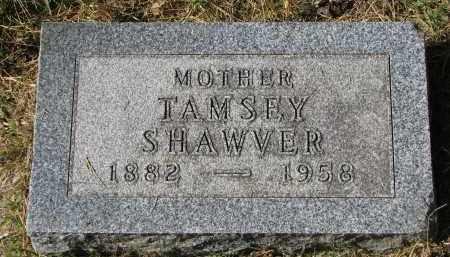 SHAWVER, TAMSEY - Burt County, Nebraska | TAMSEY SHAWVER - Nebraska Gravestone Photos