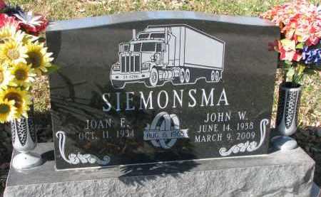 SIEMONSMA, JOAN E. - Burt County, Nebraska | JOAN E. SIEMONSMA - Nebraska Gravestone Photos