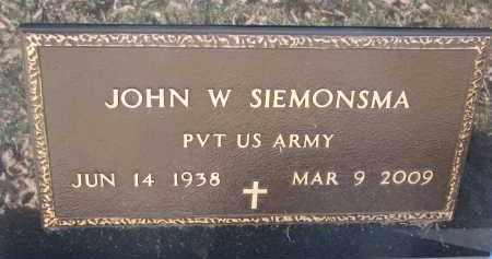 SIEMONSMA, JOHN W. (MILITARY) - Burt County, Nebraska | JOHN W. (MILITARY) SIEMONSMA - Nebraska Gravestone Photos