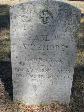 SIZEMORE, EARL W. - Burt County, Nebraska | EARL W. SIZEMORE - Nebraska Gravestone Photos