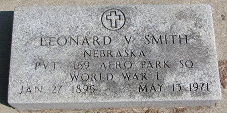 SMITH, LEONARD V. - Burt County, Nebraska | LEONARD V. SMITH - Nebraska Gravestone Photos
