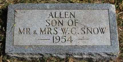 SNOW, ALLEN - Burt County, Nebraska | ALLEN SNOW - Nebraska Gravestone Photos