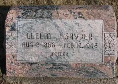 SNYDER, LUELLA W. - Burt County, Nebraska | LUELLA W. SNYDER - Nebraska Gravestone Photos
