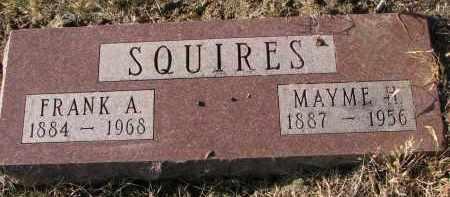 SQUIRES, FRANK A. - Burt County, Nebraska | FRANK A. SQUIRES - Nebraska Gravestone Photos