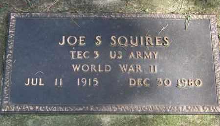 SQUIRES, JOE S. (WW II) - Burt County, Nebraska   JOE S. (WW II) SQUIRES - Nebraska Gravestone Photos