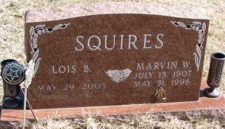 SQUIRES, MARVIN W. - Burt County, Nebraska | MARVIN W. SQUIRES - Nebraska Gravestone Photos