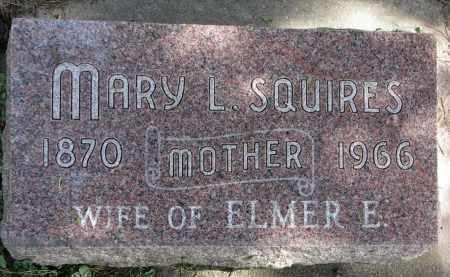 SQUIRES, MARY L. - Burt County, Nebraska | MARY L. SQUIRES - Nebraska Gravestone Photos