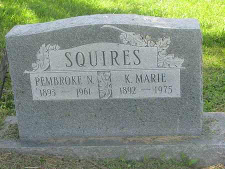 SQUIRES, PEMBROKE N. - Burt County, Nebraska | PEMBROKE N. SQUIRES - Nebraska Gravestone Photos