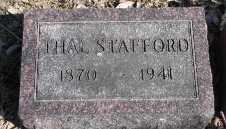 STAFFORD, THAL - Burt County, Nebraska | THAL STAFFORD - Nebraska Gravestone Photos