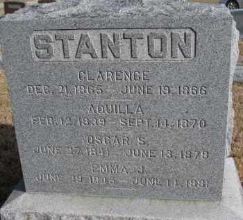 STANTON, EMMA J. - Burt County, Nebraska | EMMA J. STANTON - Nebraska Gravestone Photos
