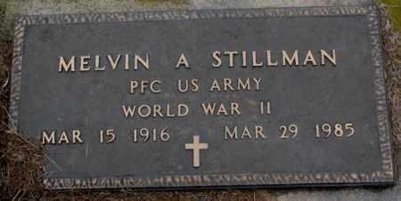 STILLMAN, MELVIN A. - Burt County, Nebraska | MELVIN A. STILLMAN - Nebraska Gravestone Photos