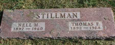 STILLMAN, THOMAS F. - Burt County, Nebraska | THOMAS F. STILLMAN - Nebraska Gravestone Photos