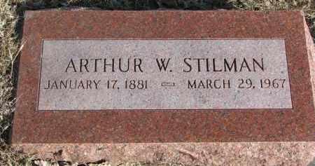 STILMAN, ARTHUR W. - Burt County, Nebraska   ARTHUR W. STILMAN - Nebraska Gravestone Photos