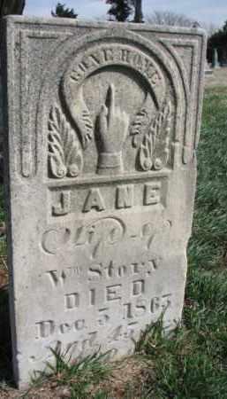STORY, JANE - Burt County, Nebraska | JANE STORY - Nebraska Gravestone Photos