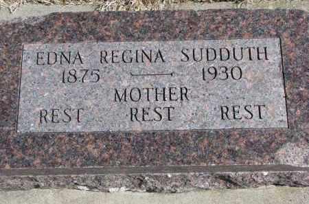 SUDDUTH, EDNA REGINA - Burt County, Nebraska | EDNA REGINA SUDDUTH - Nebraska Gravestone Photos