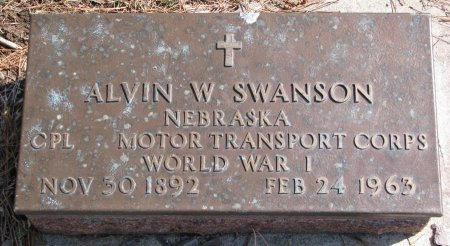 SWANSON, ALVIN W. - Burt County, Nebraska | ALVIN W. SWANSON - Nebraska Gravestone Photos