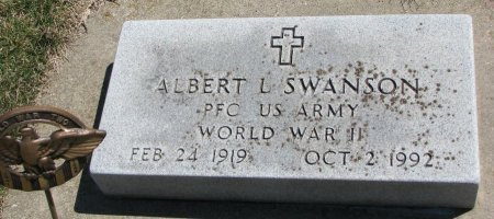 SWANSON, ALBERT L. - Burt County, Nebraska   ALBERT L. SWANSON - Nebraska Gravestone Photos