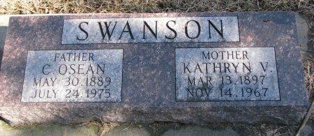 SWANSON, KATHRYN V. - Burt County, Nebraska | KATHRYN V. SWANSON - Nebraska Gravestone Photos