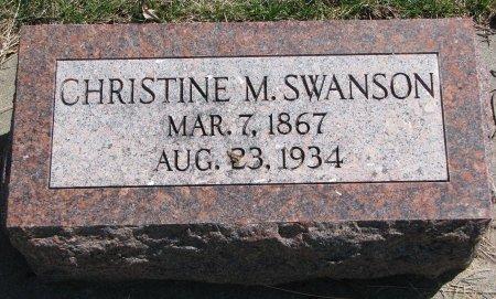 SWANSON, CHRISTINE M. - Burt County, Nebraska   CHRISTINE M. SWANSON - Nebraska Gravestone Photos