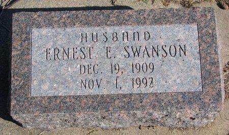SWANSON, ERNEST E. - Burt County, Nebraska | ERNEST E. SWANSON - Nebraska Gravestone Photos
