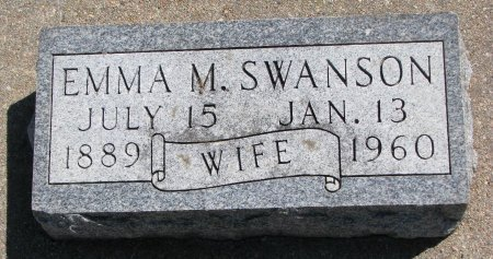 SWANSON, EMMA M. - Burt County, Nebraska | EMMA M. SWANSON - Nebraska Gravestone Photos