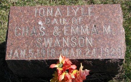 SWANSON, IONA LYLE - Burt County, Nebraska | IONA LYLE SWANSON - Nebraska Gravestone Photos