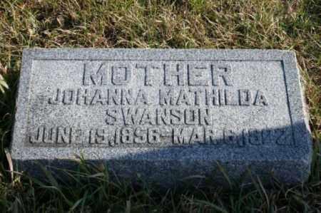SWANSON, JOHANNA MATHILDA - Burt County, Nebraska | JOHANNA MATHILDA SWANSON - Nebraska Gravestone Photos