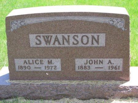 SWANSON, ALICE M. - Burt County, Nebraska | ALICE M. SWANSON - Nebraska Gravestone Photos
