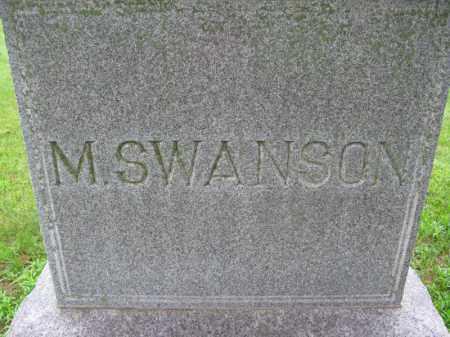 SWANSON, M. - Burt County, Nebraska | M. SWANSON - Nebraska Gravestone Photos
