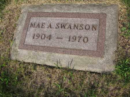 SWANSON, MAE A. - Burt County, Nebraska | MAE A. SWANSON - Nebraska Gravestone Photos
