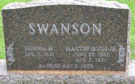 "SWANSON, MARTIN ""BUD"" JR. - Burt County, Nebraska | MARTIN ""BUD"" JR. SWANSON - Nebraska Gravestone Photos"