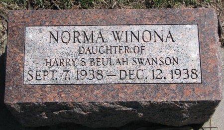 SWANSON, NORMA WINONA - Burt County, Nebraska | NORMA WINONA SWANSON - Nebraska Gravestone Photos