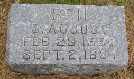 SWANSON, S, AUGUST - Burt County, Nebraska | S, AUGUST SWANSON - Nebraska Gravestone Photos